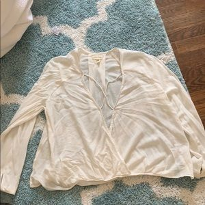 White cross chest top, worn once, in good shape